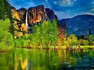 wallpaper, hd, lake, mountain, waterfall, , , wallpapers13, com