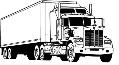 amazing semi truck coloring page netart