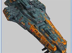 LowPoly StarShip Cruiser V2 3D Model Game ready .max ...