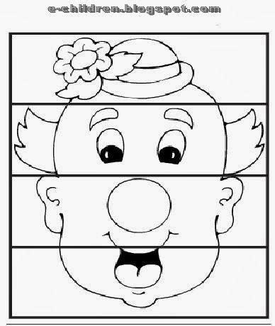 clown activities for preschoolers clown puzzle worksheet preschool 966