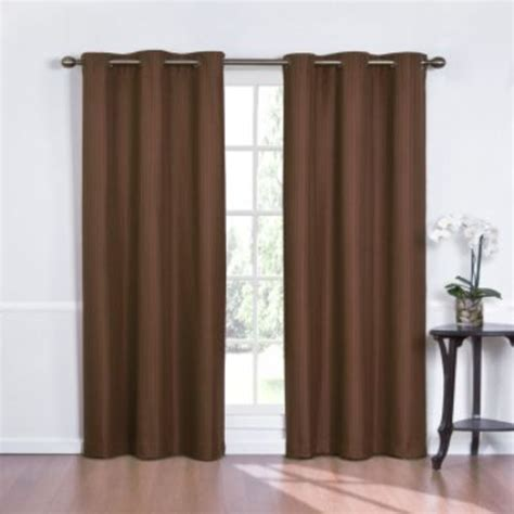Kmart Eclipse Blackout Curtains by Eclipse Curtains Kent Grommet Blackout Panel Chocolate
