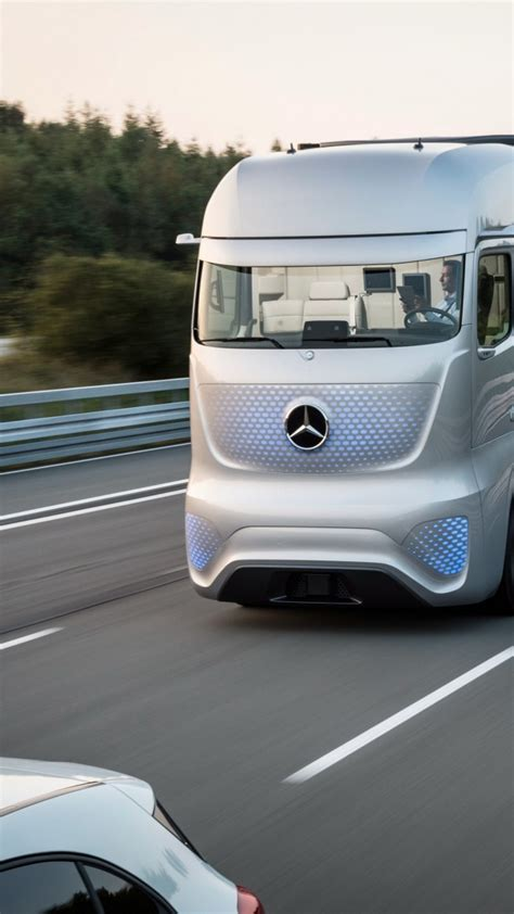 wallpaper mercedes benz future truck  future cars