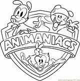 Animaniacs Coloring Pages Coloringpages101 Cartoon sketch template