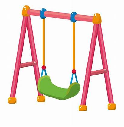 Swing Clipart Clip Disegno Playground Parco Gambar