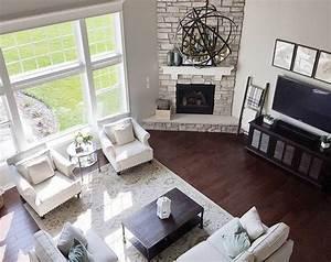 62 Inspiring Corner Fireplace Ideas in The Living Room ...