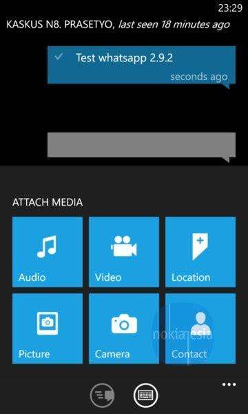 whatsapp  nokia lumia windows phone  major update