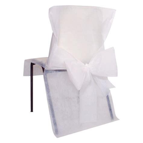 noeud pour chaise housses de chaise blanches x10 noeud en non tissé