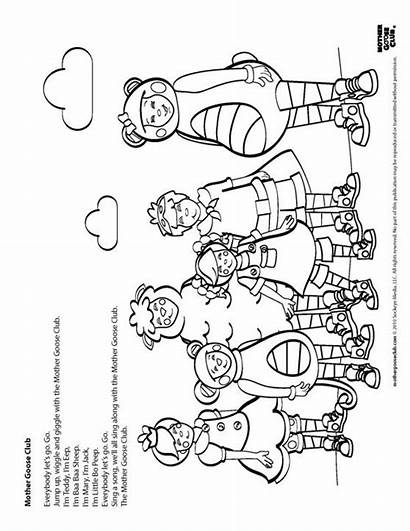 Goose Mother Club Coloring Pages Worksheets Speakaboos