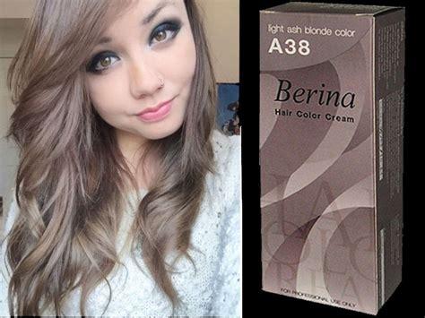 Ash Hair Dye by Berina Permanent A38 Color New Hair Dye Light Ash