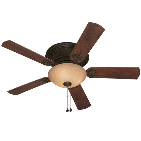 harbor breeze outdoor ceiling fan shop harbor breeze lynstead 52 in specialty bronze flush