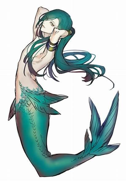 Mermaid Anime Drawing Mermaids Clipart Male Merman