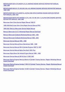 Mercruiser Service Manual 13 Marine Engines G By