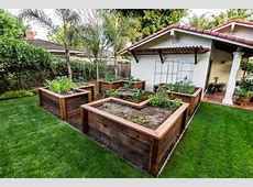Poured concrete raised beds landscape asian with low water