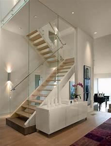 Treppe Mit Glas : treppe mit glasgel nder f r schickes interieur ~ Sanjose-hotels-ca.com Haus und Dekorationen