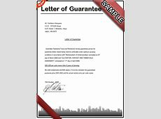 How to write a Letter of Guarantee Sample