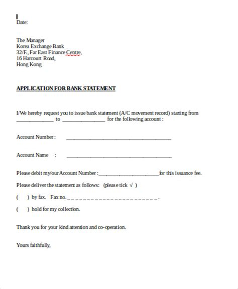 application letter templates format