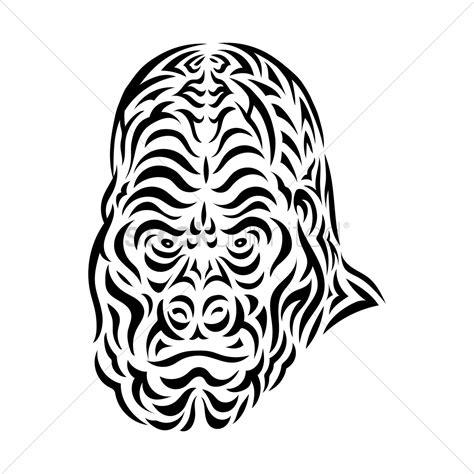gorilla tattoo design vector image  stockunlimited