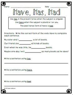 verb worksheet    teacher stuff grammer