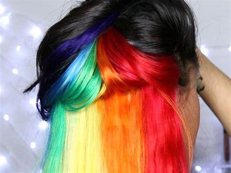 rainbow hair    rainbow  reasons    color hairstyles  women