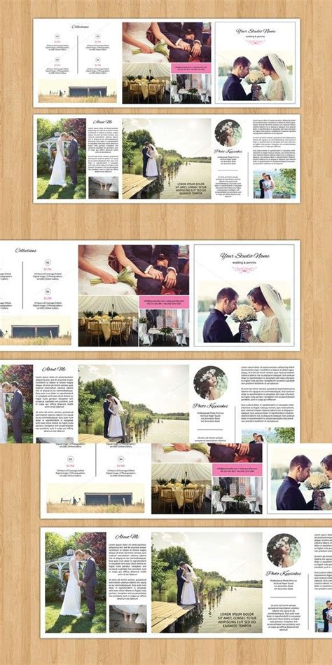 Trifold Template Album Ideas by Square Trifold Wedding Brochure V481 Brochure Templates