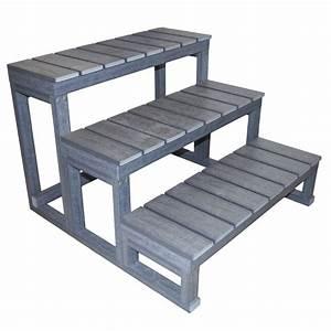 Escalier 4 Marches : escalier 3 marches en r sine pour spa de nage boospa ~ Melissatoandfro.com Idées de Décoration