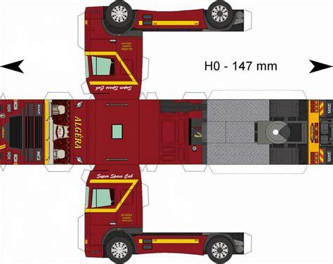 paper model trucks trucks  work trucks