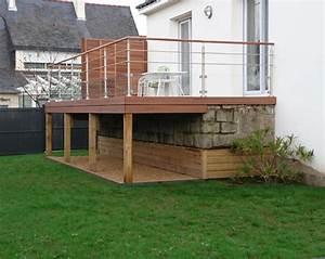 Terrasse Bois Sur Terre : construire une terrasse en bois sur la terre ~ Dailycaller-alerts.com Idées de Décoration