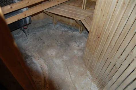 Sauna concrete floor   DoItYourself.com Community Forums