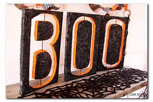 boo how to make large cut out letters sugar bee crafts With cut foam letters