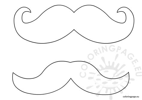 mustache template printable mustache template coloring page