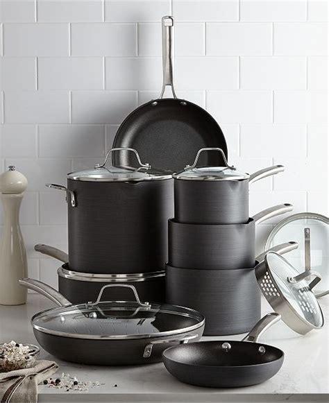 calphalon classic nonstick  pc cookware set reviews cookware sets macys