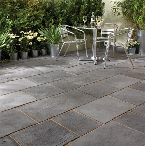 enthralling slate pavers  patio  running bond tile