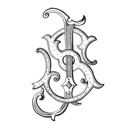 weezie  designs custom  letter monogram overlap intertwine embellished custom monogram