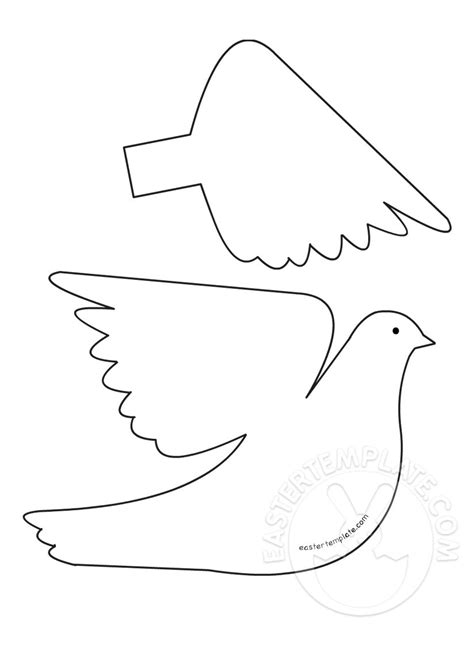 dove template 3d paper dove ornament template easter template