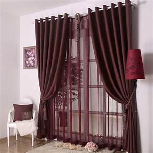 Dark red curtains with silver bar for elegant modern for Interior decorating living room curtains