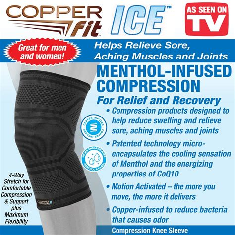 copper fit ice copper infused compression knee sleeve collections