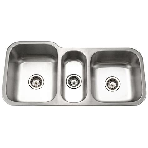 what is a triple bowl sink used for houzer medallion gourmet undermount stainless steel 40 in
