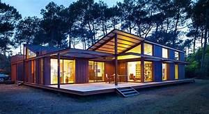 Splendide Maison Bois Contemporaine Face  U00e0 L U2019oc U00e9an