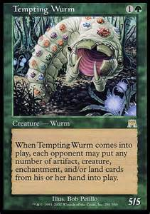 tempting wurm mtg card