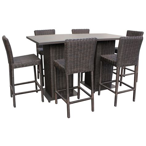 outdoor 5 pub table set wicker pub table and chairs