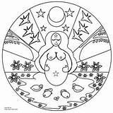 Mandalas Coloring Mandala Crazy Yahoo Moon sketch template