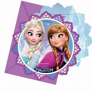 Joyeux Anniversaire Reine Des Neiges : 6 cartes d 39 invitations reine des neiges 6 enveloppes ~ Melissatoandfro.com Idées de Décoration