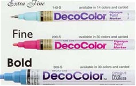 deco colours used deco paint markers