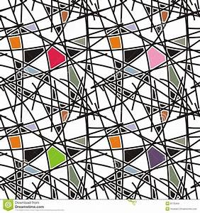 Black Lines With Geometric Pattern Stock Vector - Image ...