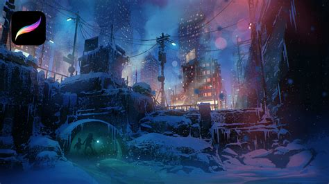 Painting a Winter City Scene in Procreate with Nikolai ...