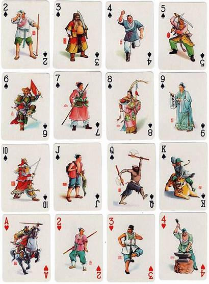 Margin Water Characters Cards Playing