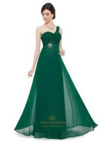 green bridesmaid dresses emerald green chiffon one shoulder silver embellishments bridesmaid dress fancy bridesmaid dresses
