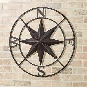 Earhart Indoor Outdoor Compass Wall Art