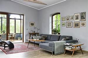 schoner wohnen wohnzimmer ideen mobelideen With balkon teppich mit tapeten wohnzimmer landhaus