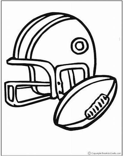 Coloring Sports Pages Football Printables Crafts Ball